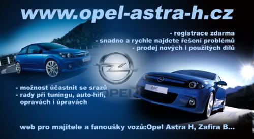 Leták Opel Astra H
