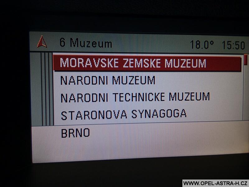 Opel navigace muzeum