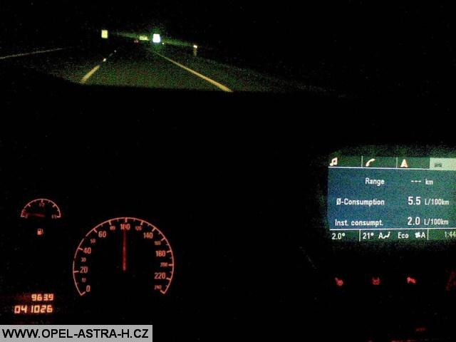 Test přesnosti palubního počítače a dojezdu