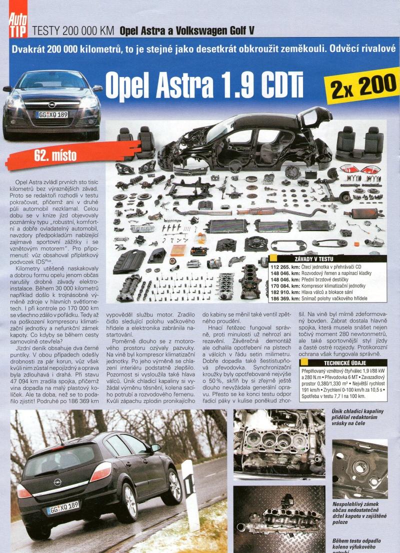 Opel Astra H po 200 000km