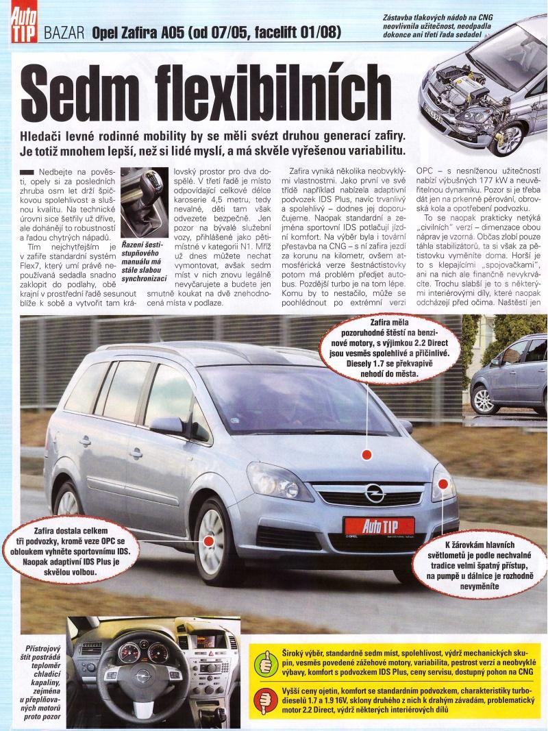 Opel Zafira B recenze