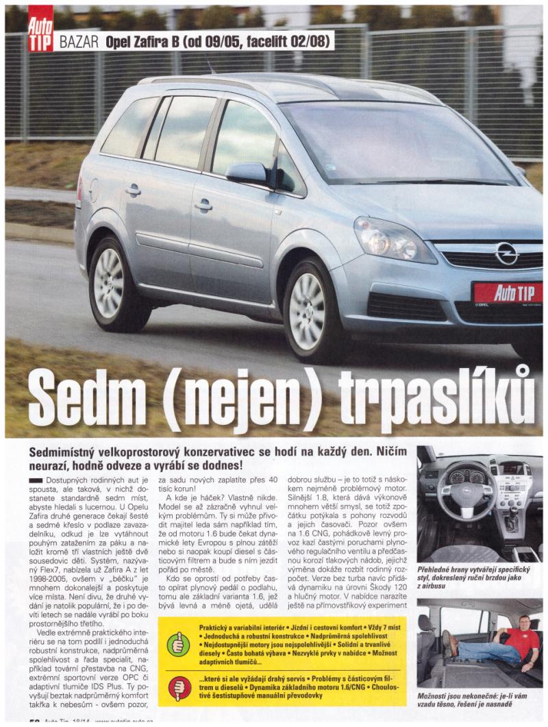 Opel Zafira recenze 2014 1*