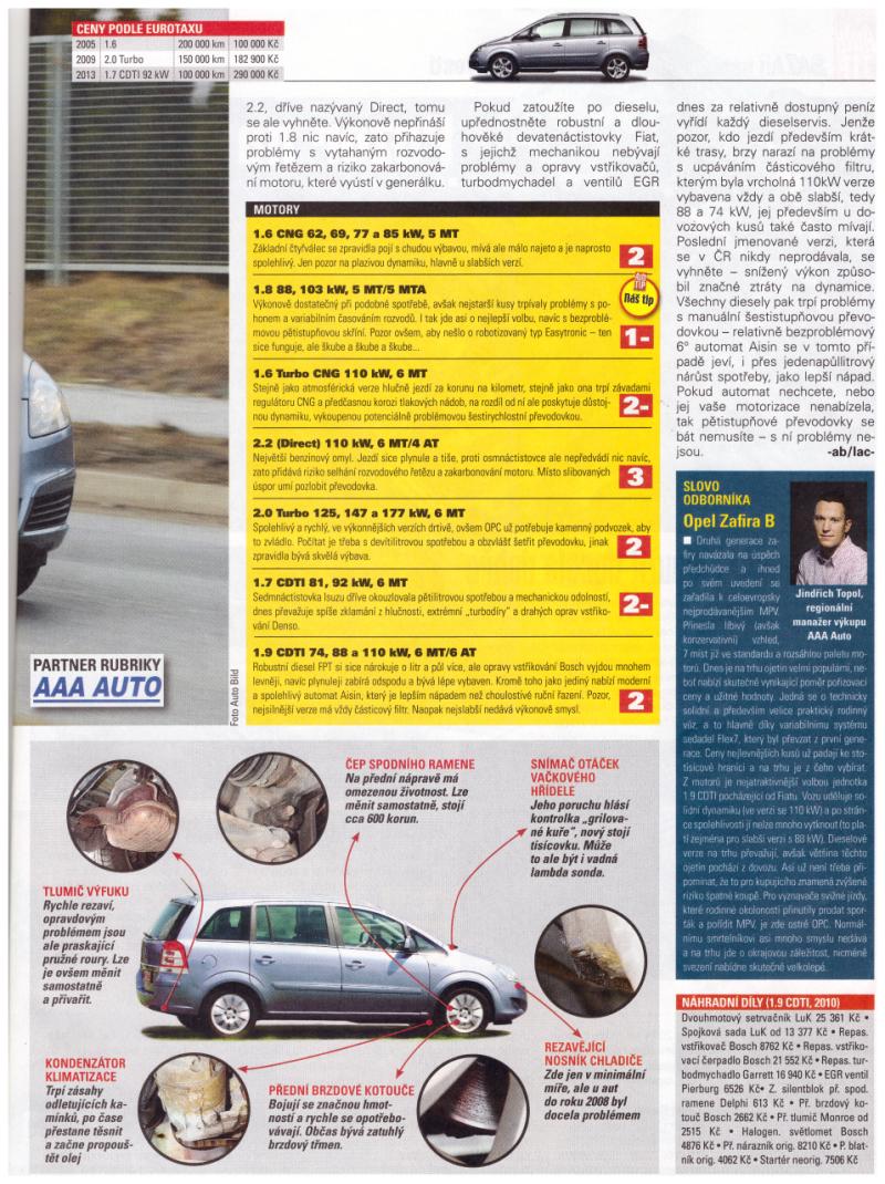 Opel Zafira recenze 2014 2*
