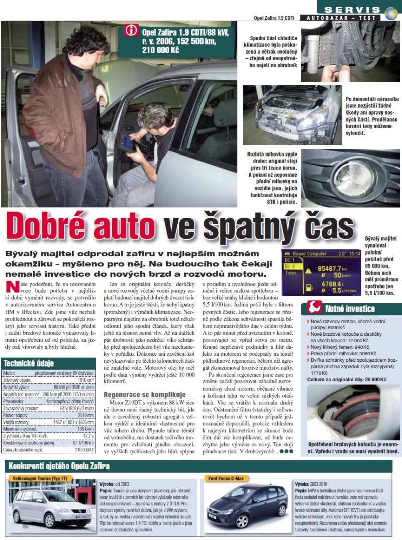 Opel Zafira recenze