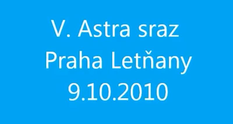 VIDEO – V. Astra – Zafira sraz Praha Letňany podzim 2010