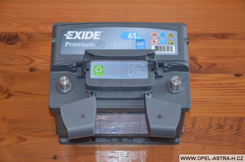 Autobaterie Exide Premium EA612 (12v, 61ah, 600a) 3