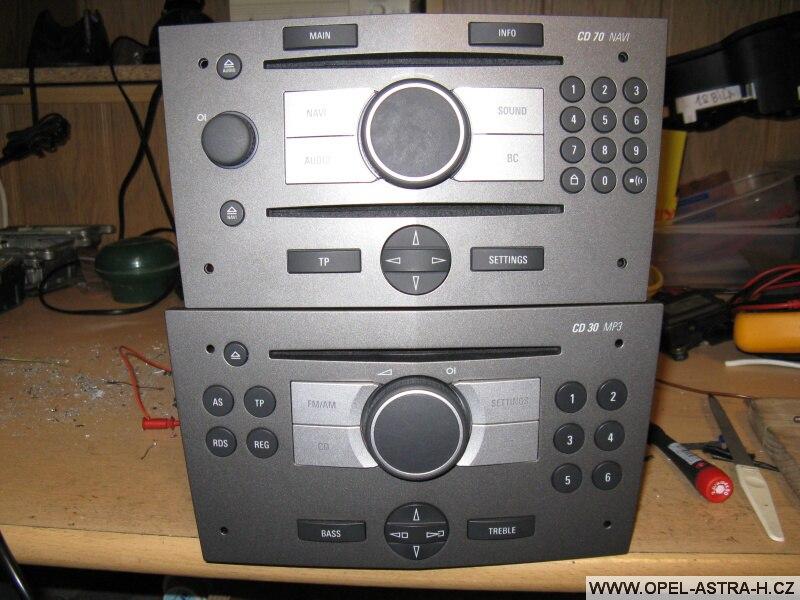 Autoradio CD30mp3 a Cd70 navi