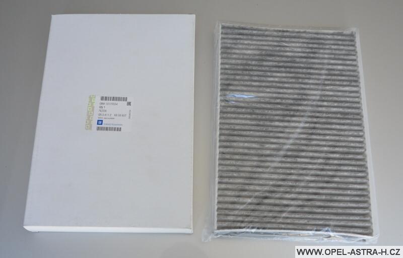 Filtr kabinový - aktivní uhlí - Opel Astra H
