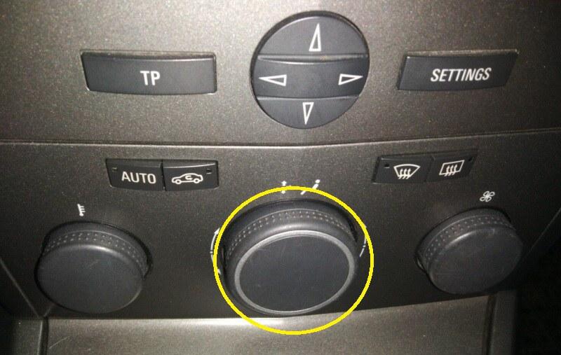 Jak zapnout klimatizaci - Opel Astra H