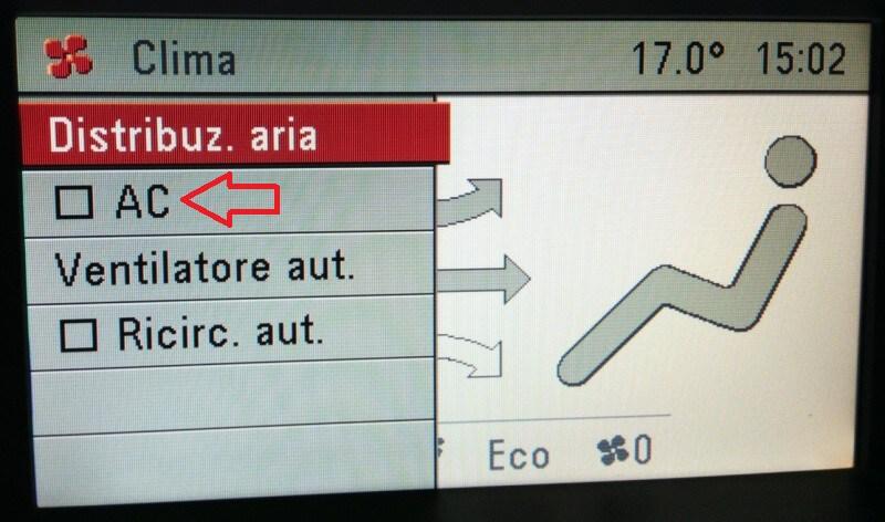 Jak zapnout klimatizaci - Opel Astra H 2