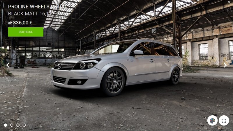 Konfigurátor alu kol - Opel Astra H combi 1