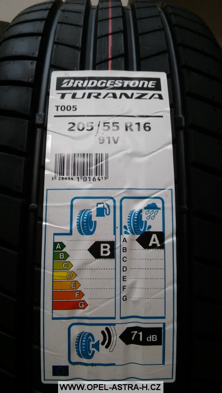 Letní pneu Bridgestone Turanza T005 205/55 R16