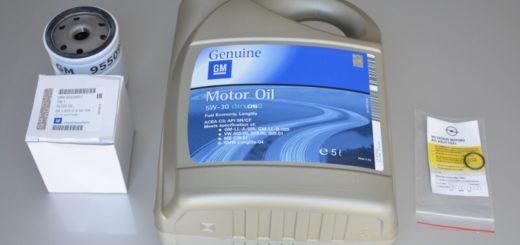 Motorový olej GM 5W30 Dexos 2 + filtr olejový